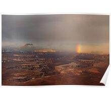 Rainbow over Canyonlands Poster