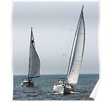 Sailing Lake Michigan Poster