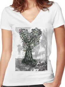 Bamboo Women's Fitted V-Neck T-Shirt