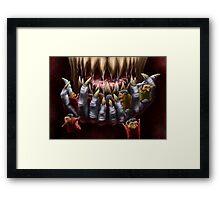 Wolf's Dinner Framed Print