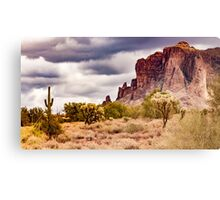 Supes in Clouds Canvas Print