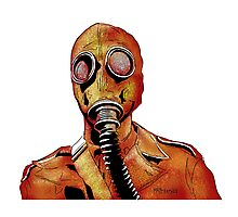 Gasmasks right Photographic Print