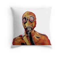Gasmasks right Throw Pillow