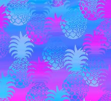Pukana Hawaiian Pineapple Sunset Blend - Periwinkle and Violet by DriveIndustries