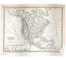 Atlas zu Alex V Humbolt's Cosmos 1851 0168 Mountains and Waterways of North America Poster