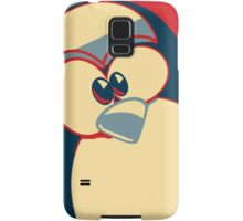 Linux Tux Obama poster red blue  Samsung Galaxy Case/Skin