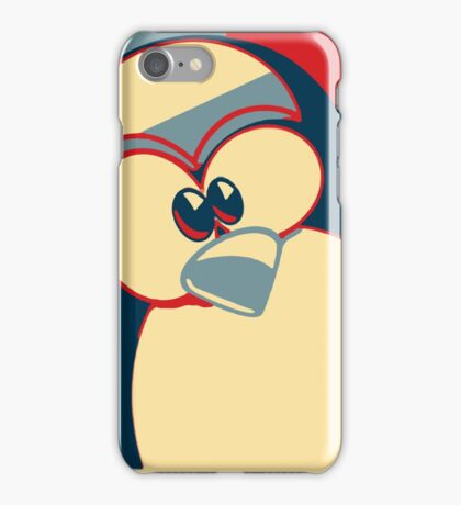 Linux Tux Obama poster red blue  iPhone Case/Skin