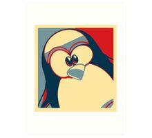 Linux Tux Obama poster red blue  Art Print