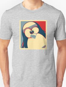 Linux Tux Obama poster red blue  T-Shirt