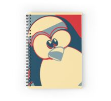 Linux Tux Obama poster red blue  Spiral Notebook
