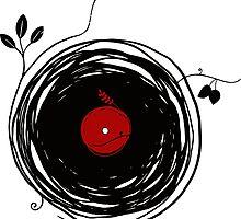 Spinning vinyl, Bird Nest, Grunge Design by whatdesign