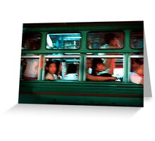 Chinatown Bus Bangkok Greeting Card