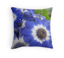 Vaudeville Blue Spectacle Throw Pillow