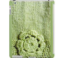 Green Crochet Flower #2 iPad Case/Skin