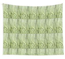 Green Crochet Flower #2 Wall Tapestry