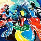 African Dancers No. 1 - Rhythm, Rhythm, Rhythm... by Elisabeta Hermann