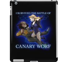 The Battle of Canary Worf iPad Case/Skin