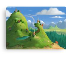 Mountain Village Canvas Print