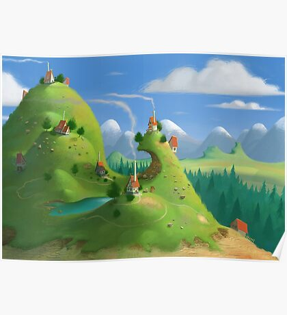 Mountain Village Poster