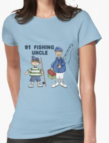 Number #1 Fishing Uncle Womens Fitted T-Shirt