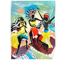 African Dancers No. 4 - Rhythm, Rhythm, Rhythm... Poster