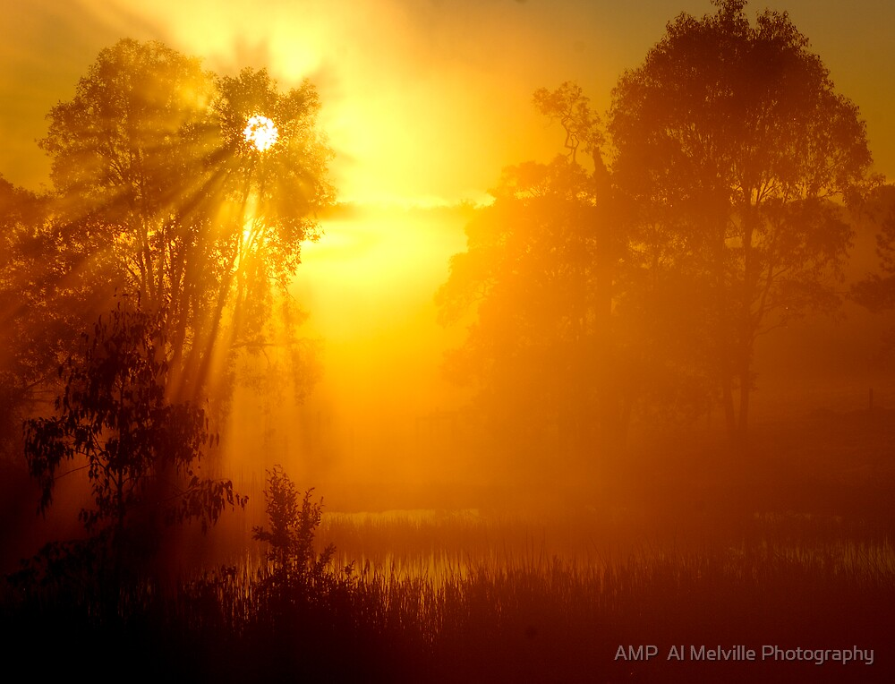 Sacred Sunrise - Queensland Australia by AMP  Al Melville Photography