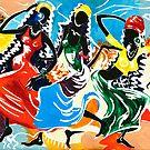 African Dancers No. 2 - Rhythm, Rhythm, Rhythm... by Elisabeta Hermann