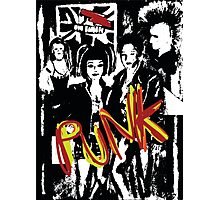 punk music fans in black and white  Photographic Print