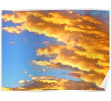 Orange Clouds Poster