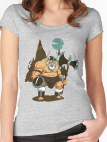 The Angry Axe Man Women's Fitted Scoop T-Shirt