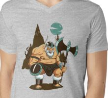 The Angry Axe Man Mens V-Neck T-Shirt