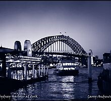 Sydney Harbour at dusk. Photograph by Garry Andrews by Garry Andrews