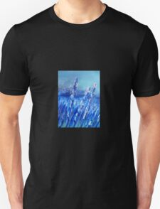 Lavender Field Abstract Unisex T-Shirt