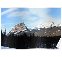 View of Castle Mountain Poster