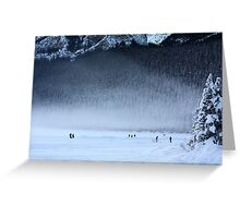 Hockey in the Mist Greeting Card