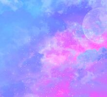 Blue Lilac Dream Skyscape by grosslittlthing