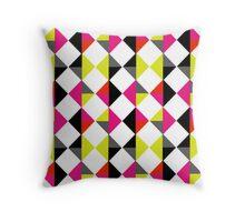 Modern Geometric Bold Color Block Diamond Pattern Throw Pillow
