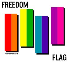 the freedom flag // black by cheyee