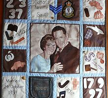 Dad's memory quilt by rosalind