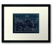 Atlas zu Alex V Humbolt's Cosmos 1851 0151 Volcanic Map of the World Inverted Framed Print
