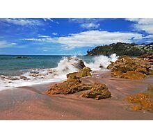 Splash In Hot Water Beach Photographic Print