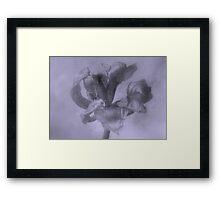 Textured Tulip - JUSTART ©  Framed Print