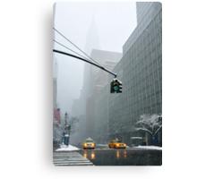 New York 42th Street - Traffic light Canvas Print