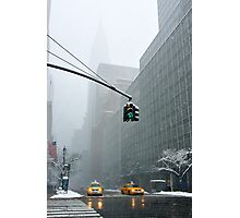 New York 42th Street - Traffic light Photographic Print