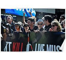 S.L.A.M. (Save Live Australian Music) Protest Rally I. Poster