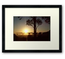 Misty Sunrise Framed Print