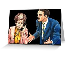 Fawlty Towers : Sybil and Basil Greeting Card