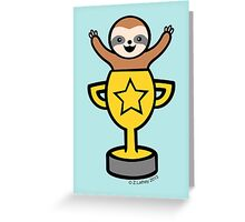 Baby Sloth in Winners Cup Greeting Card
