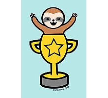 Baby Sloth in Winners Cup Photographic Print