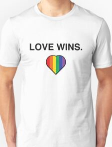 Love Wins Pro Gay Marriage  T-Shirt